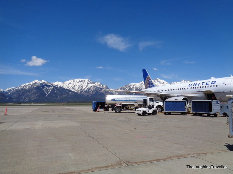 landing in Yellowstone