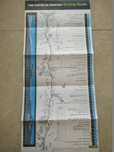 Icefields Parkway map