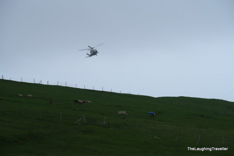 Faroe islands helicopter